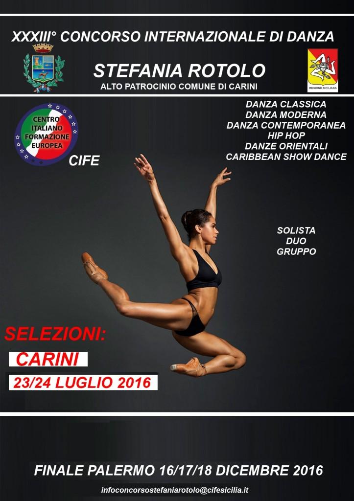 Locandina STEFANIA ROTOLO 2016 COMUNE CARINI